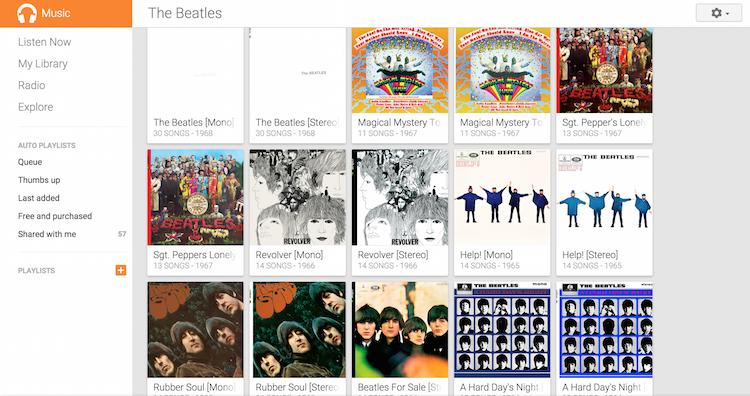 Google Play Music Beatles