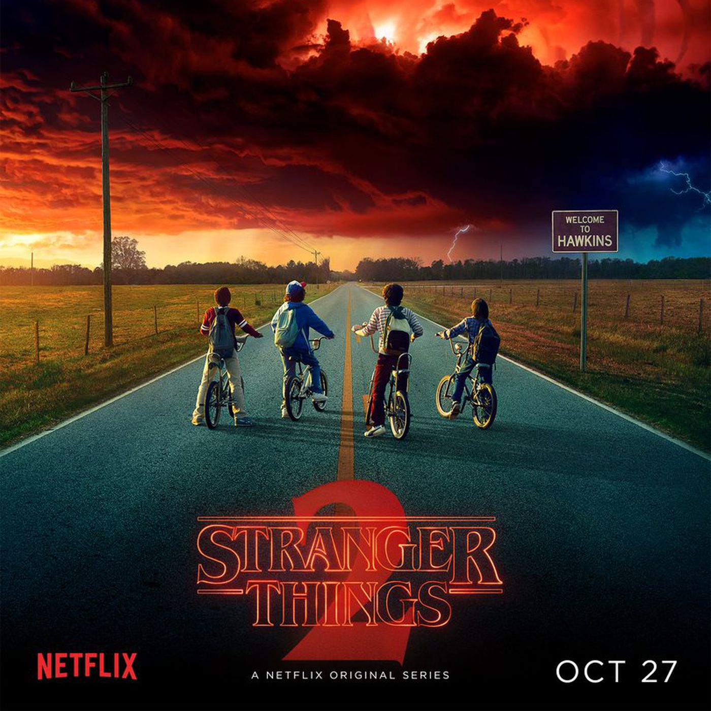 The Stranger Things 2 Poster Hints At More Ways The Show Will Borrow From Stephen King The Verge Men's netflix stranger things group shot fireworks poster hoodie. the stranger things 2 poster hints at
