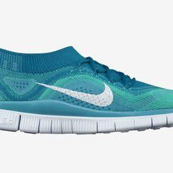 "<b>Nike</b> Free Flyknit+ in Neo Turquoise, <a href=""http://store.nike.com/us/en_us/pd/free-flyknit-running-shoe/pid-726170/pgid-831868"">$160</a>"