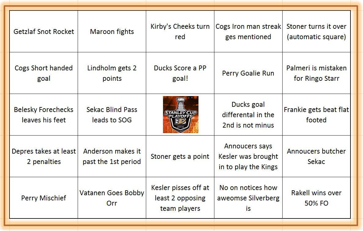 2015  ducks bingo