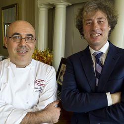 Chef Olivier Reginensi (left) and Marco Maccioni (right).