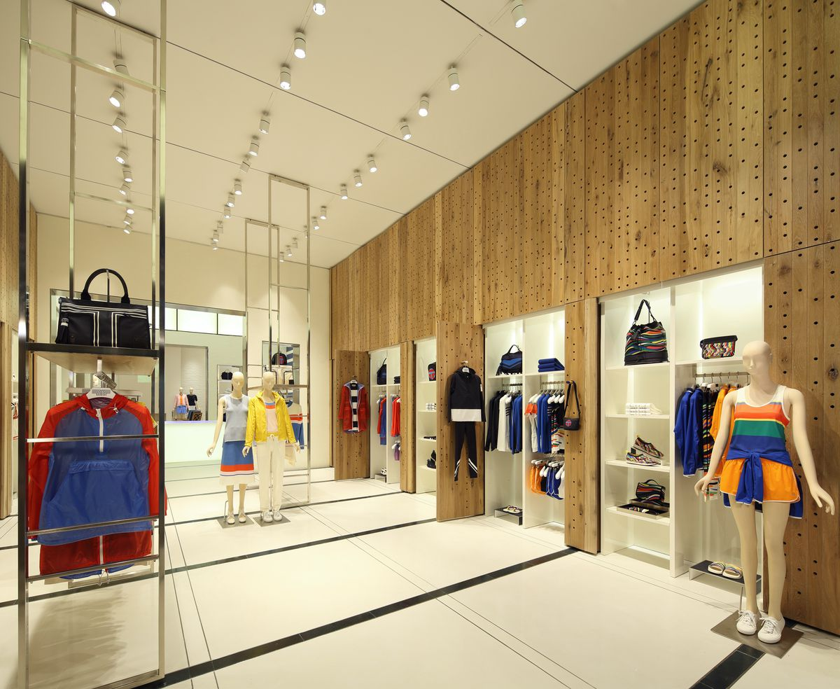 Inside the Tory Sport store in New York City
