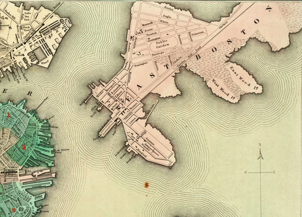 A map of East Boston.