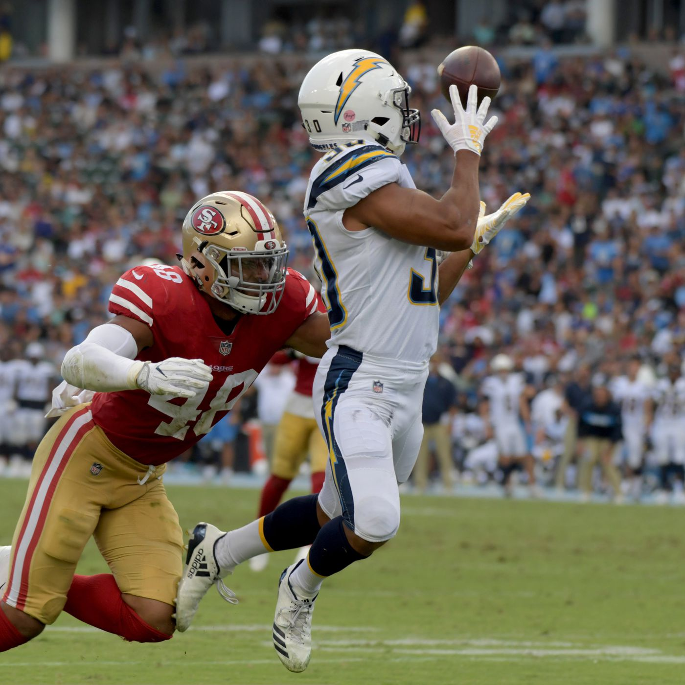 Chargers 49ers Final Score Los Angeles Defeat The San Francisco 29 27