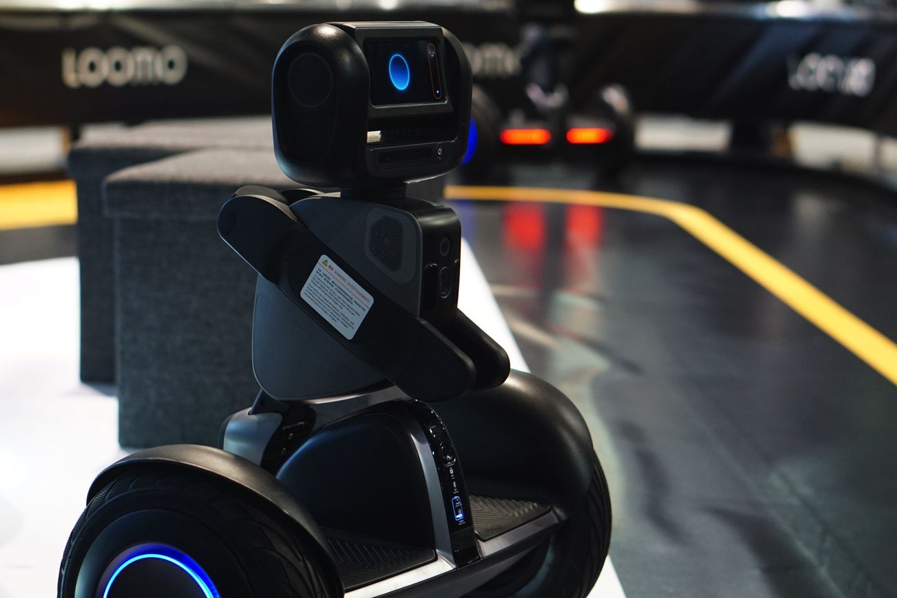 taking a ride on segway s loomo robot