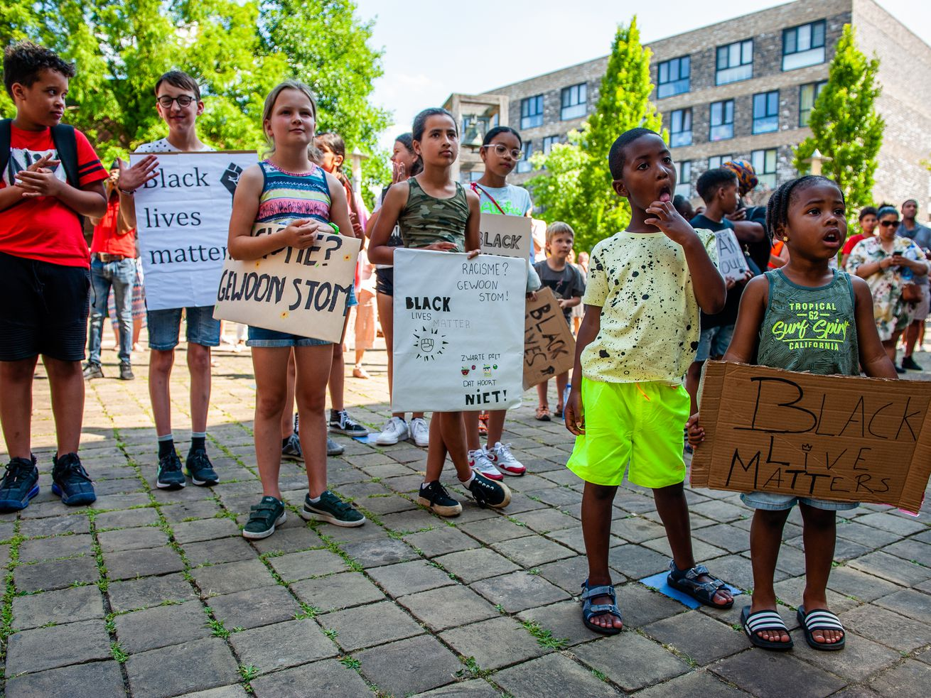 Black Lives Matter Children Demonstration In Diemen, Netherlands