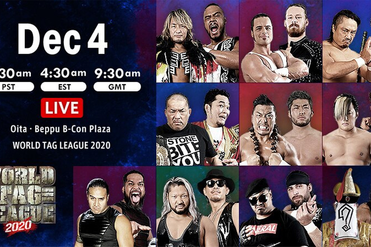 Lineup graphic for night thirteen of NJPW World Tag League 2020