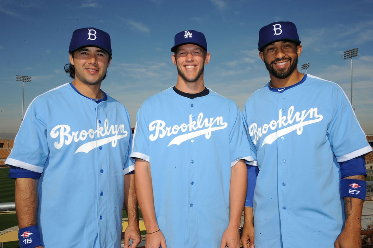 Do not adjust your television sets today. The Dodgers will be wearing these powder blue uniforms. (<em>Jon SooHoo   LA Dodgers</em>)