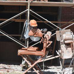 10:30 a.m. Brick work equipment -