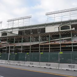Another view of the south side of the ballpark, along Addison Street