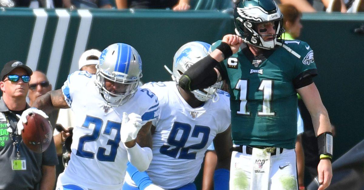 Eagles vs. Lions final score: Carson Wentz's teammates let him down in Week 3 loss, 27-24