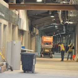 View of the third base concourse at Gate K -