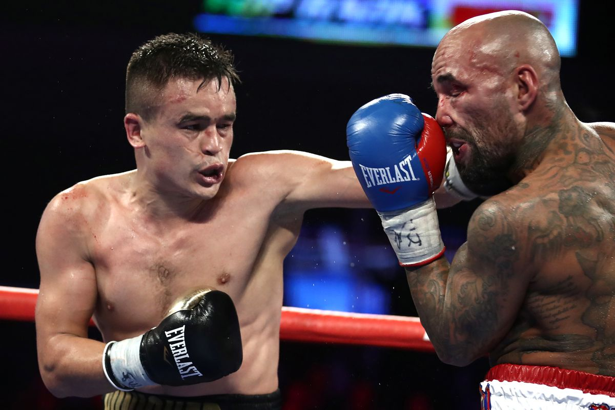 Welterweight boxing bout Abdukakhorov vs Collazo in Philadelphia, US