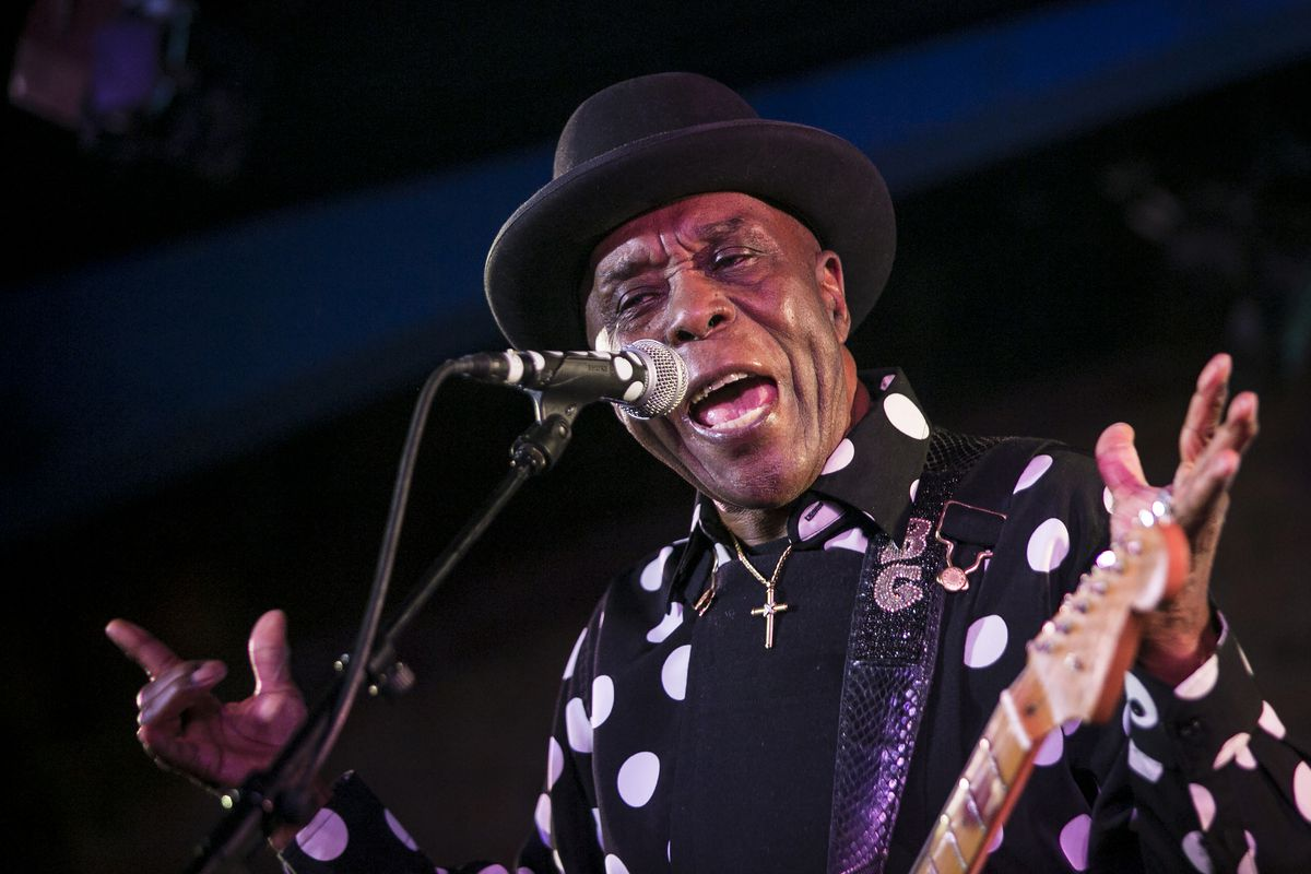 Buddy Guy performs at the opening night, a benefit for PCaBlue, a charitable organization founded to raise awareness about prostate cancer, at Buddy Guy's Legends, on Jan. 4, 2018.   Ashlee Rezin/Sun-Times