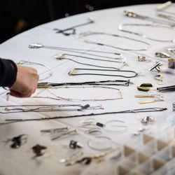 On-set jewelry display
