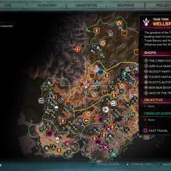 Travel to Wellspring, to the west of the map's center.
