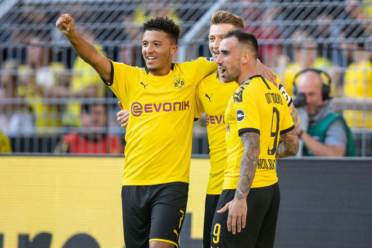 Jadon Sancho, Marco Reus and Paco Alcacer - Borussia Dortmund - Champions League