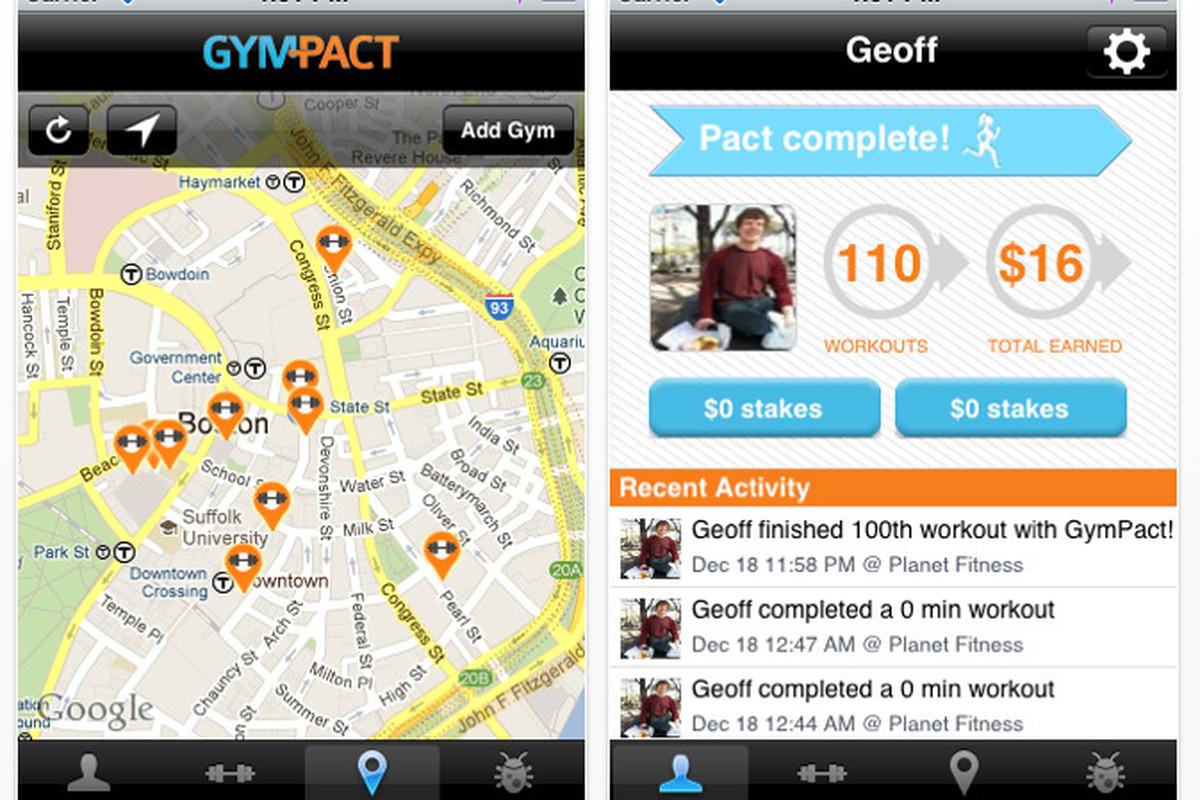 GymPact iOS app
