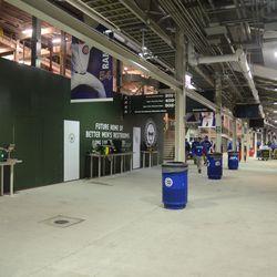 10:44 p.m. Third base concourse -