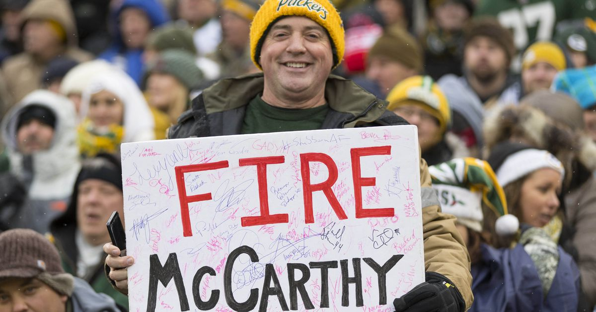 Packers fans' confidence gets a big boost after Mike McCarthy's firing