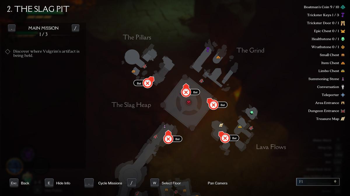 Darksiders Genesis Slag Pit bats
