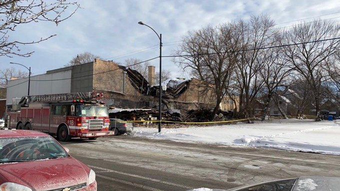 Crews responded to a building collapse at 5617 S. Halsted St. on Feb. 14.