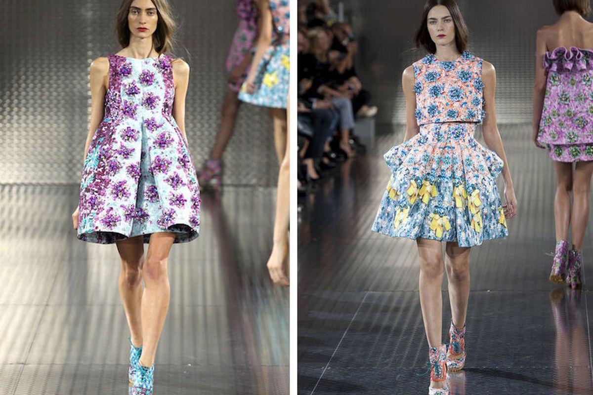 Print master <b>Mary Katrantzou's</b> spring 2014 runway