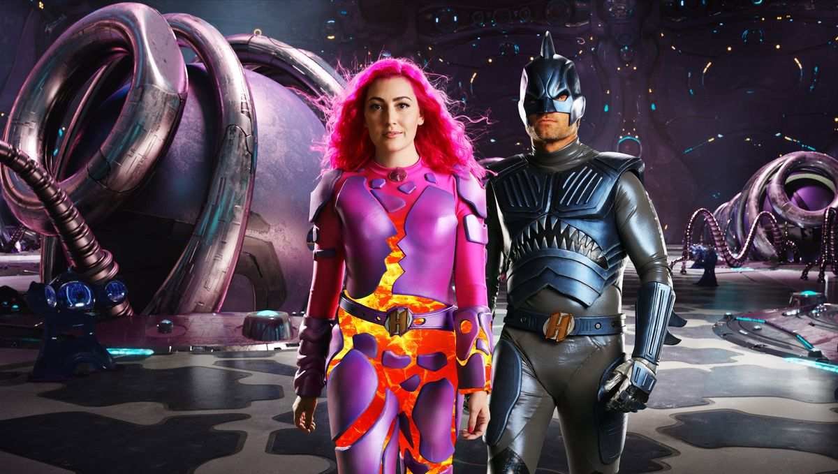 GROWN UP SHARKBOY AND LAVAGIRL in we can be heroes