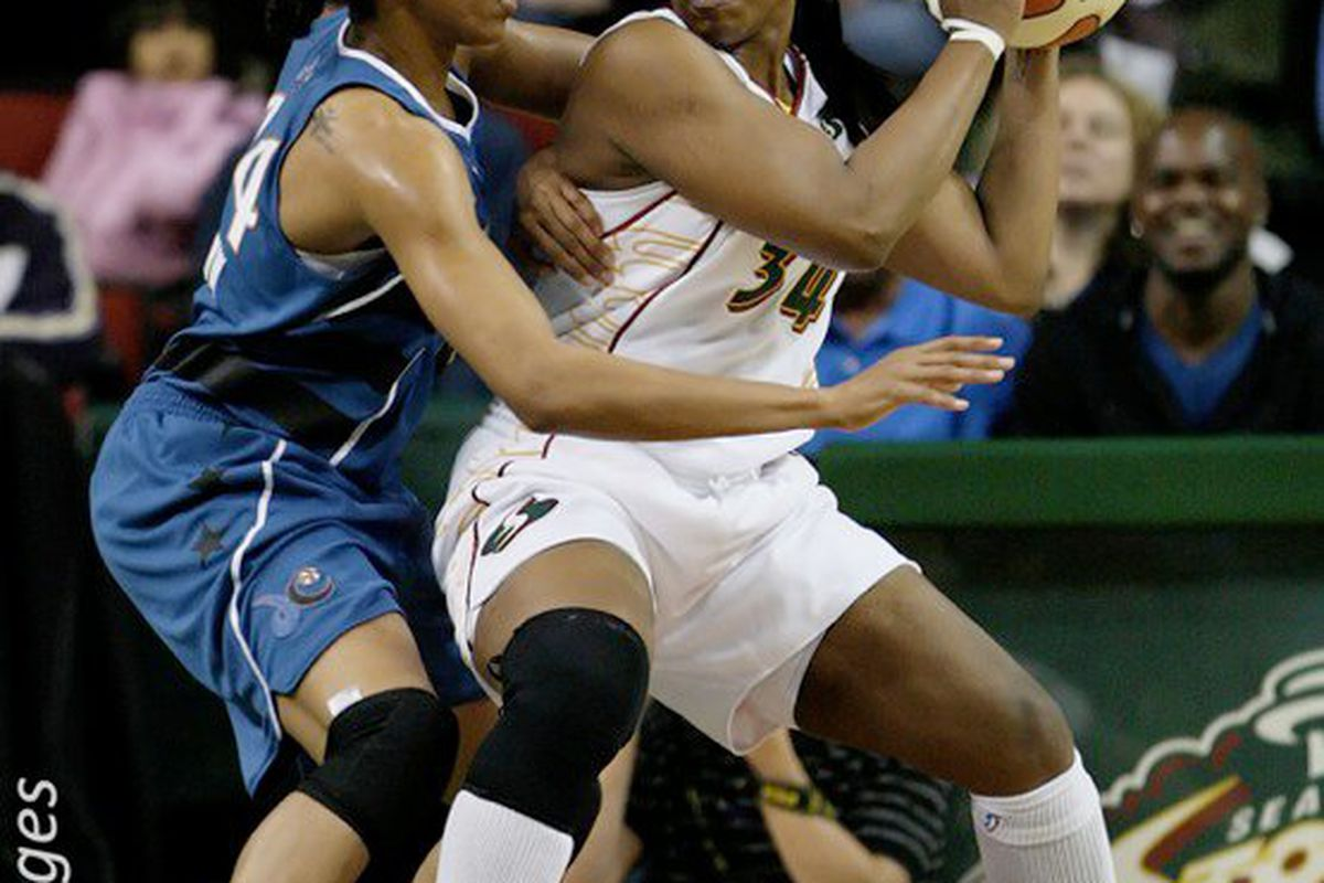 """The Washington Mystics are similar to the Seattle Storm in that they are both defensive-minded, interior teams. <em>Photo by <a href=""""http://www.kailasimages.com"""" target=""""new"""">Kailas Images</a>.</em>"""
