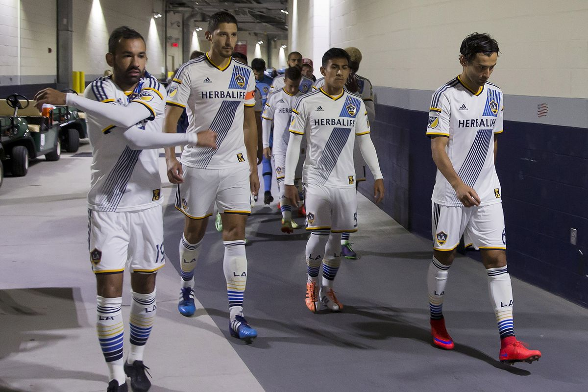 The Galaxy walked out of Foxboro Stadium on Sunday night with a road draw.
