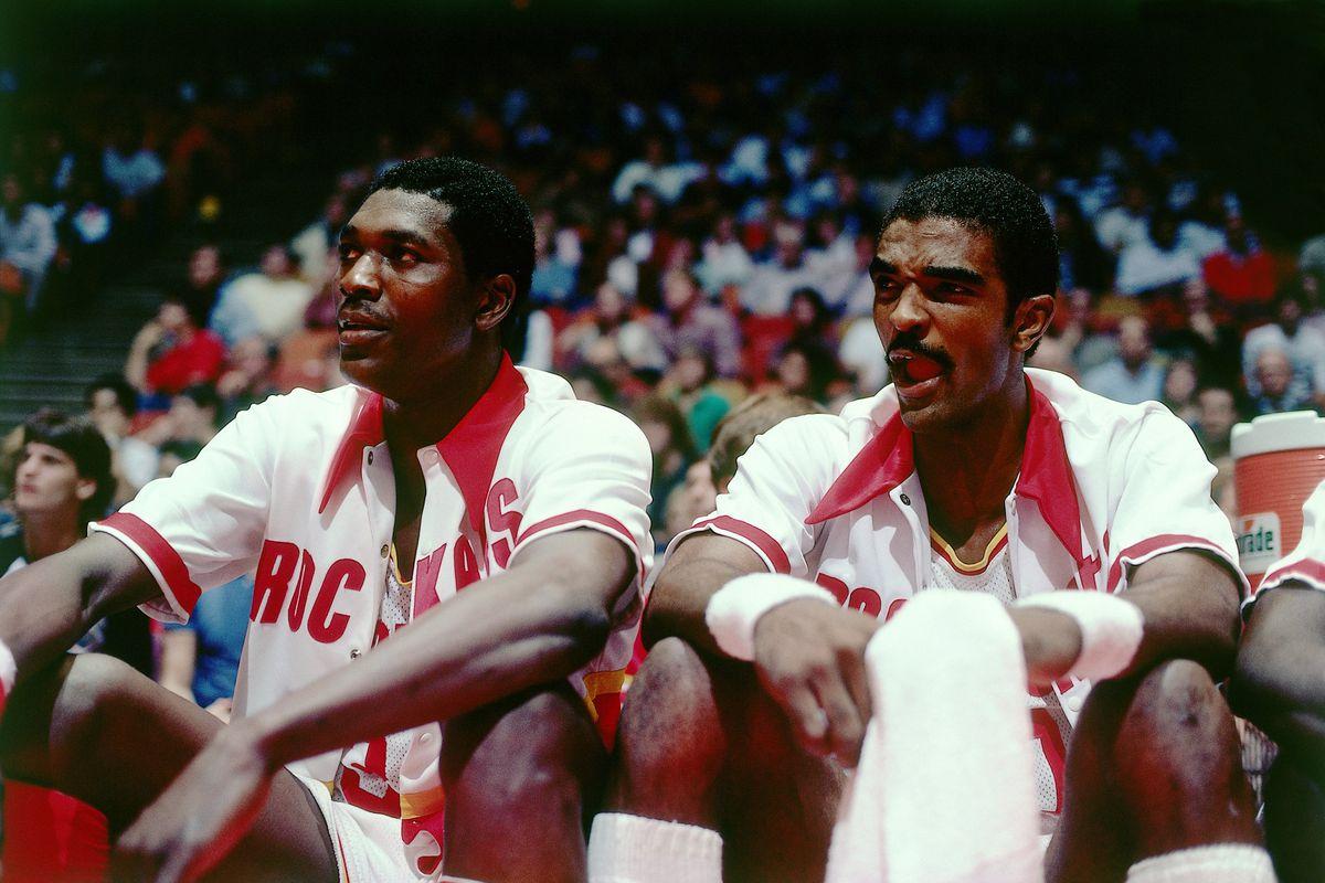Hakeem Olajuwon and Ralph Sampson Game Portrait