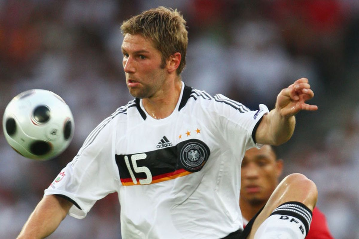 Thomas Hitzlsperger is now a Hammer. Photo courtesy of Sky Sports.