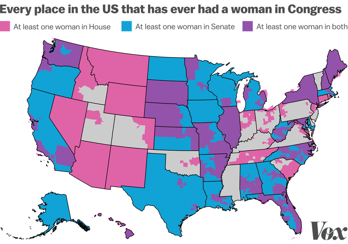 This Map Shows Every Place In The Us That Has Ever Had A Woman In