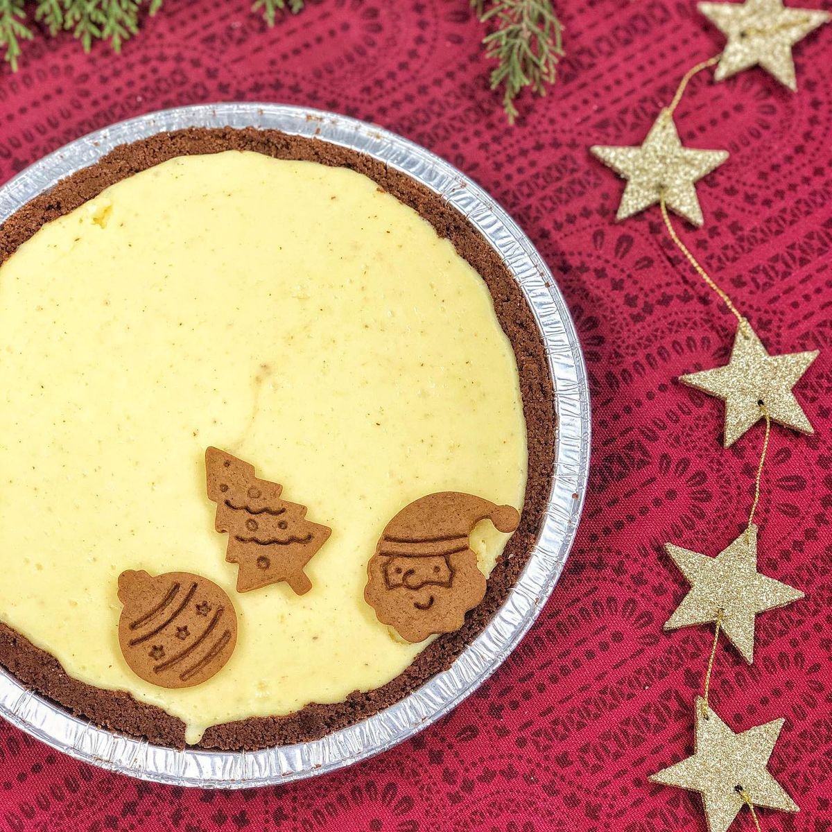 The eggnog cheesecake pie from Abby Jane Bakeshop