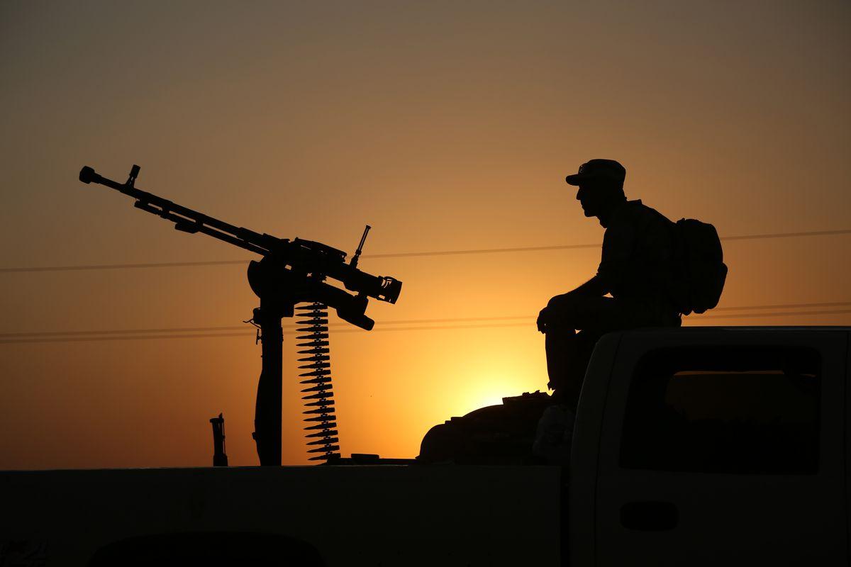 A fighter in Iraq.