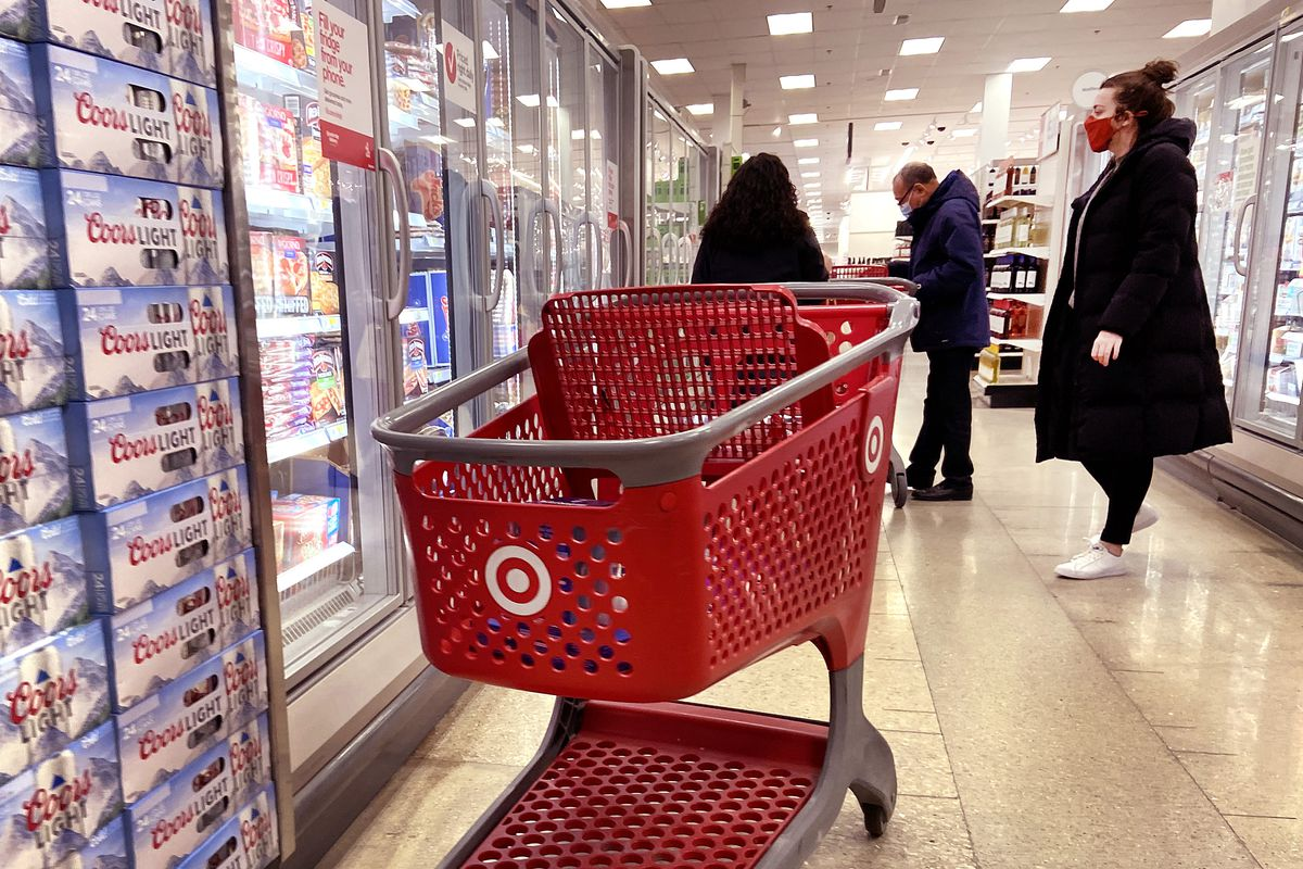Customers shop at a Target store in Chicago.