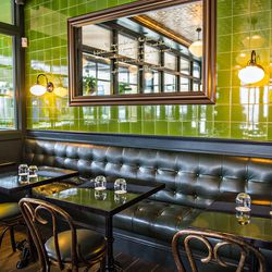 Grab a seat in the back booth at Bread & Butterfly.