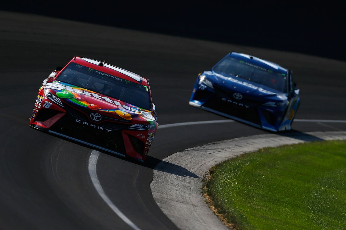 Kyle Busch, Martin Truex Jr. wreck while battling for lead at Indianapolis
