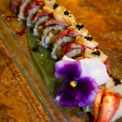 The Social House Ultimate Sushi Roll.