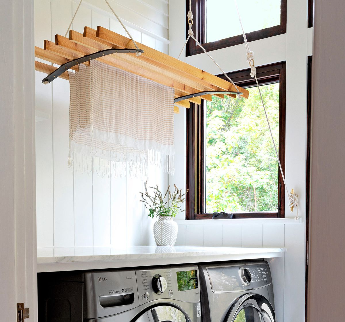pulley drying rack from Grit and Polish
