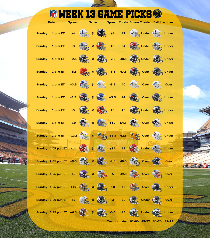 week 13 nfl betting picks