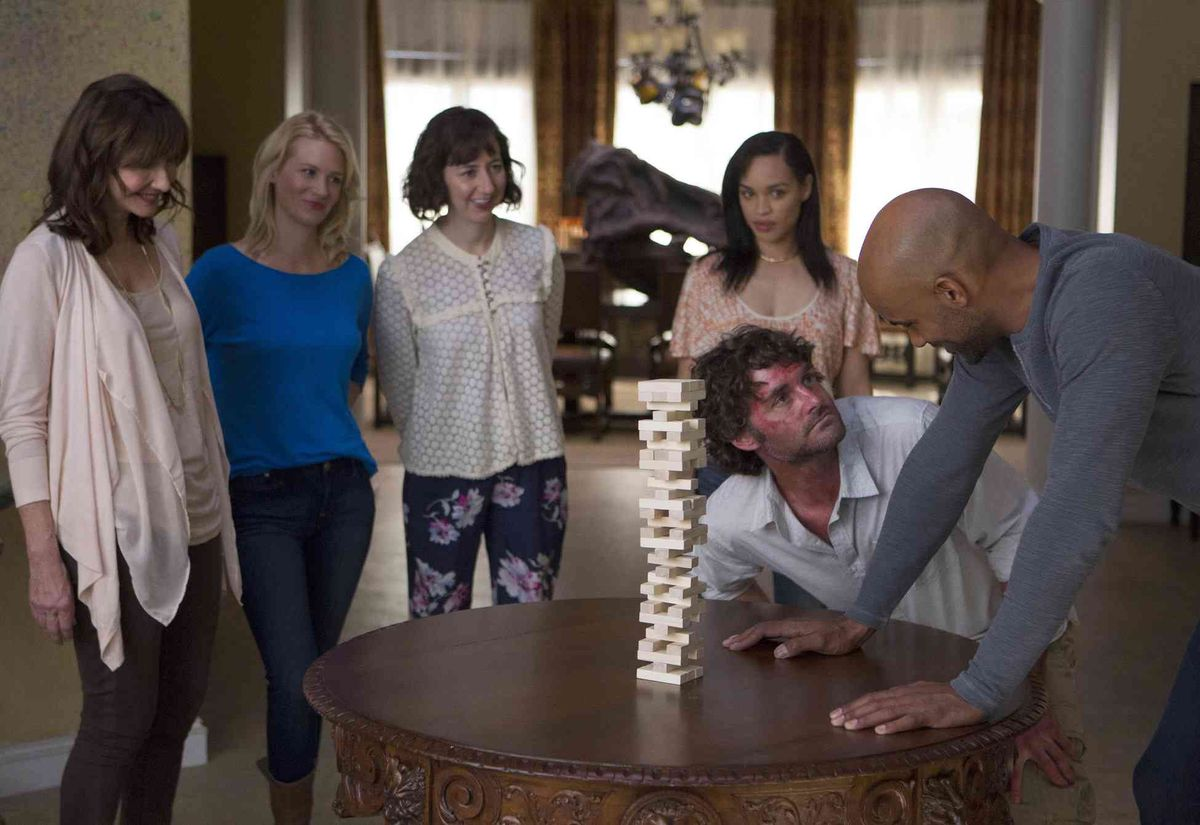 A high stakes game of Jenga on The Last Man on Earth.