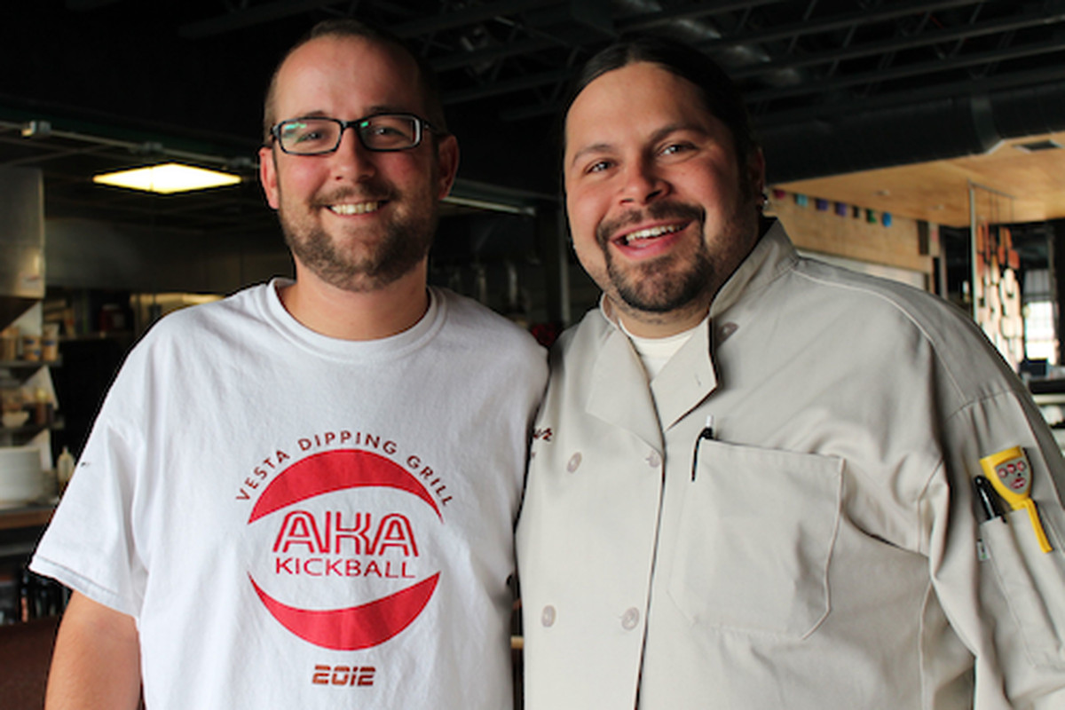 Brandon Foster of Vesta Dipping Grill and Daniel Asher of Linger