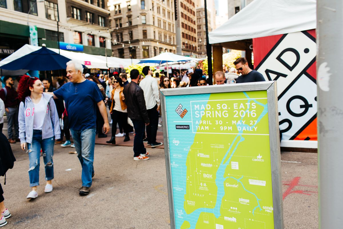 The Mad. Sq. Eats market in 2016