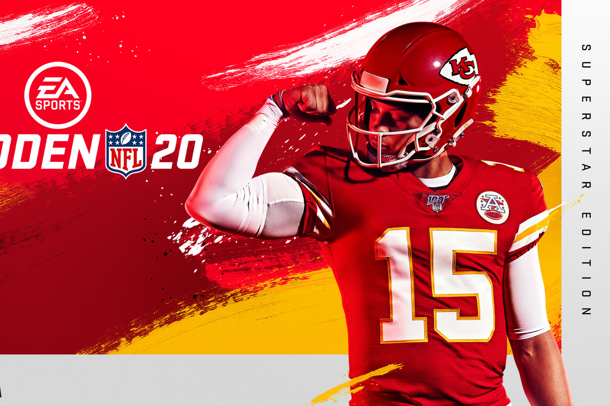 Madden NFL 20 Superstar Edition cover with Patrick Mahomes