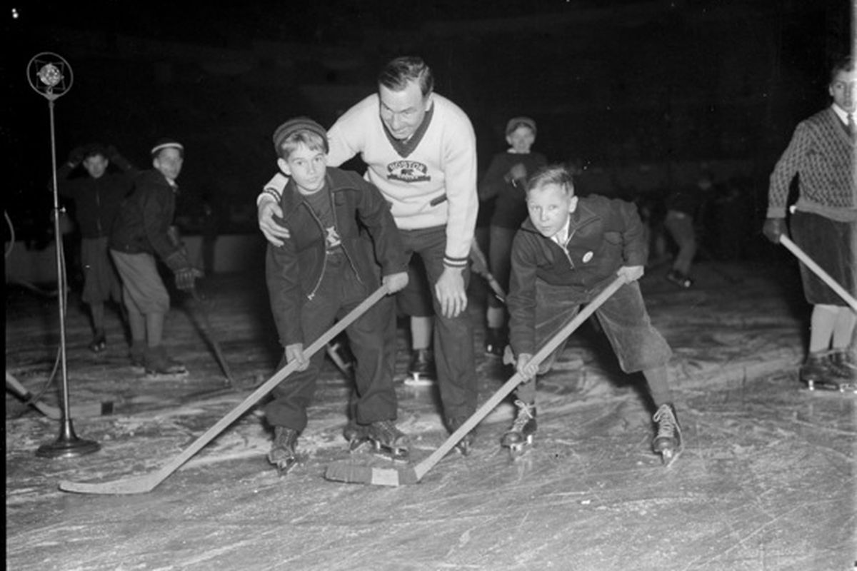 Art Ross in the community - Bruins Clinic, c. 1934