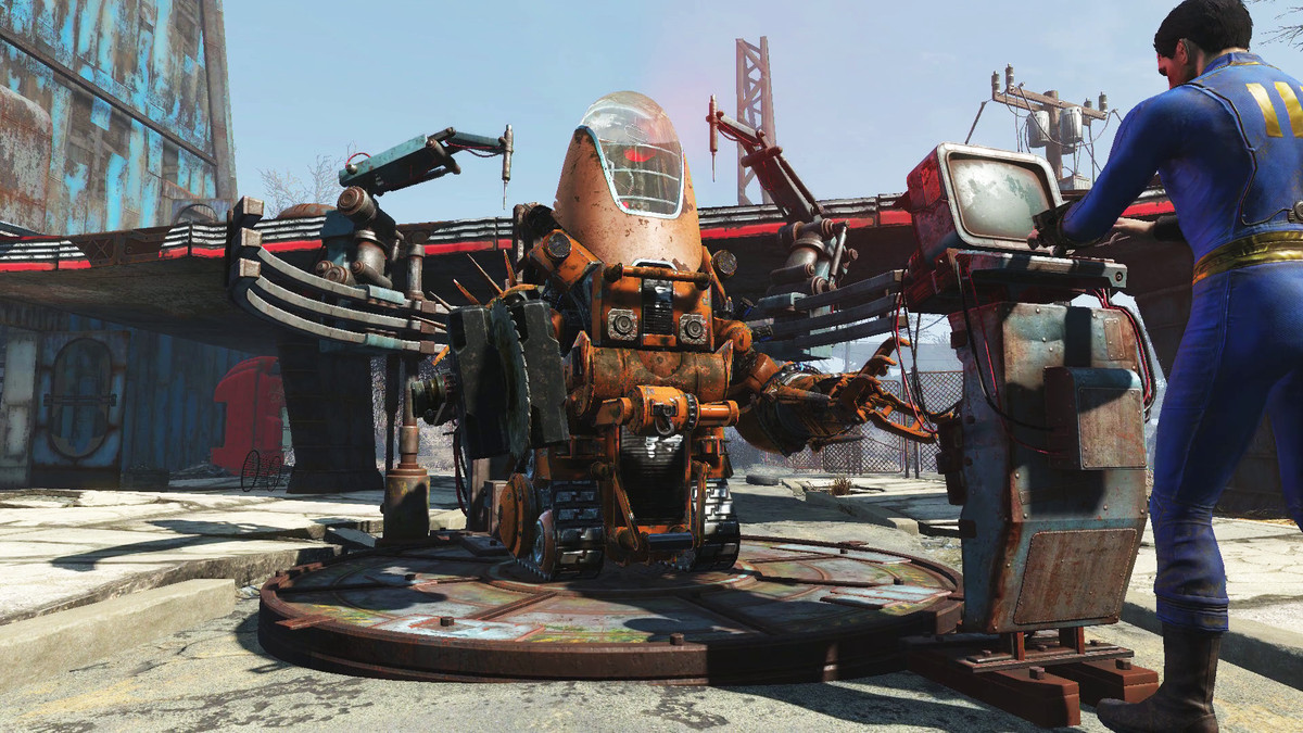 Building a killer robot BFF in Fallout 4's first add-on is a ton of