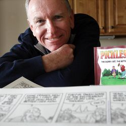 """Brian Crane, creator of """"Pickles,"""" says there's nothing he'd rather be doing than working on the comic strip."""
