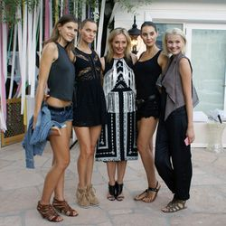 Lubov with the models.