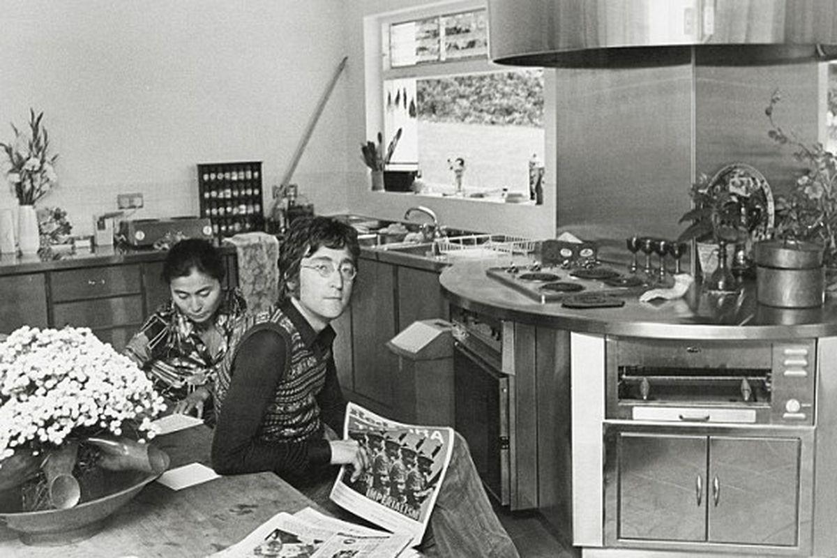 John & Yoko In Their Kitchen at Ascot, ca. 1971
